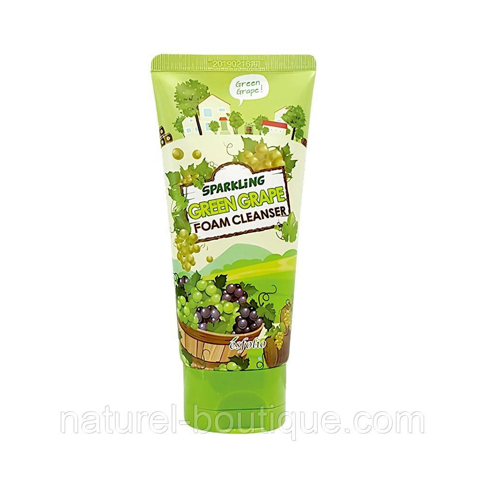 Пена для лица Esfolio Sparkling Green Grape Foam Cleanser зеленый  виноград