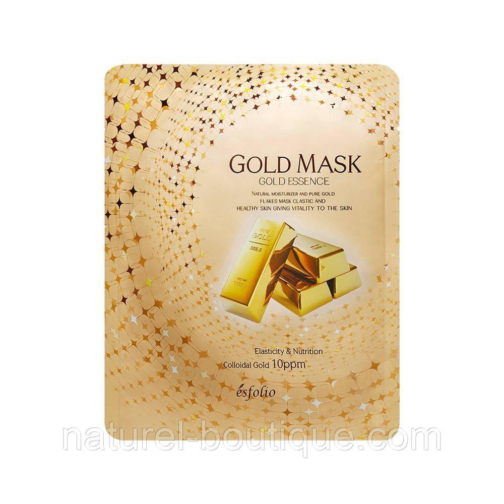 Тканинна Маска для обличчя Esfolio Gold Essence Mask з золотом