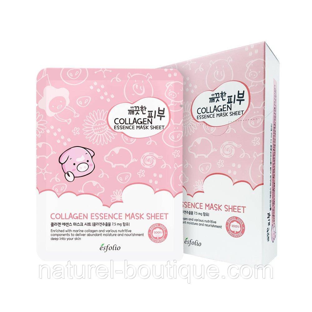 Маска тканевая для лица Esfolio Pure Skin Colagen Essence  Mask Sheet с коллагеном