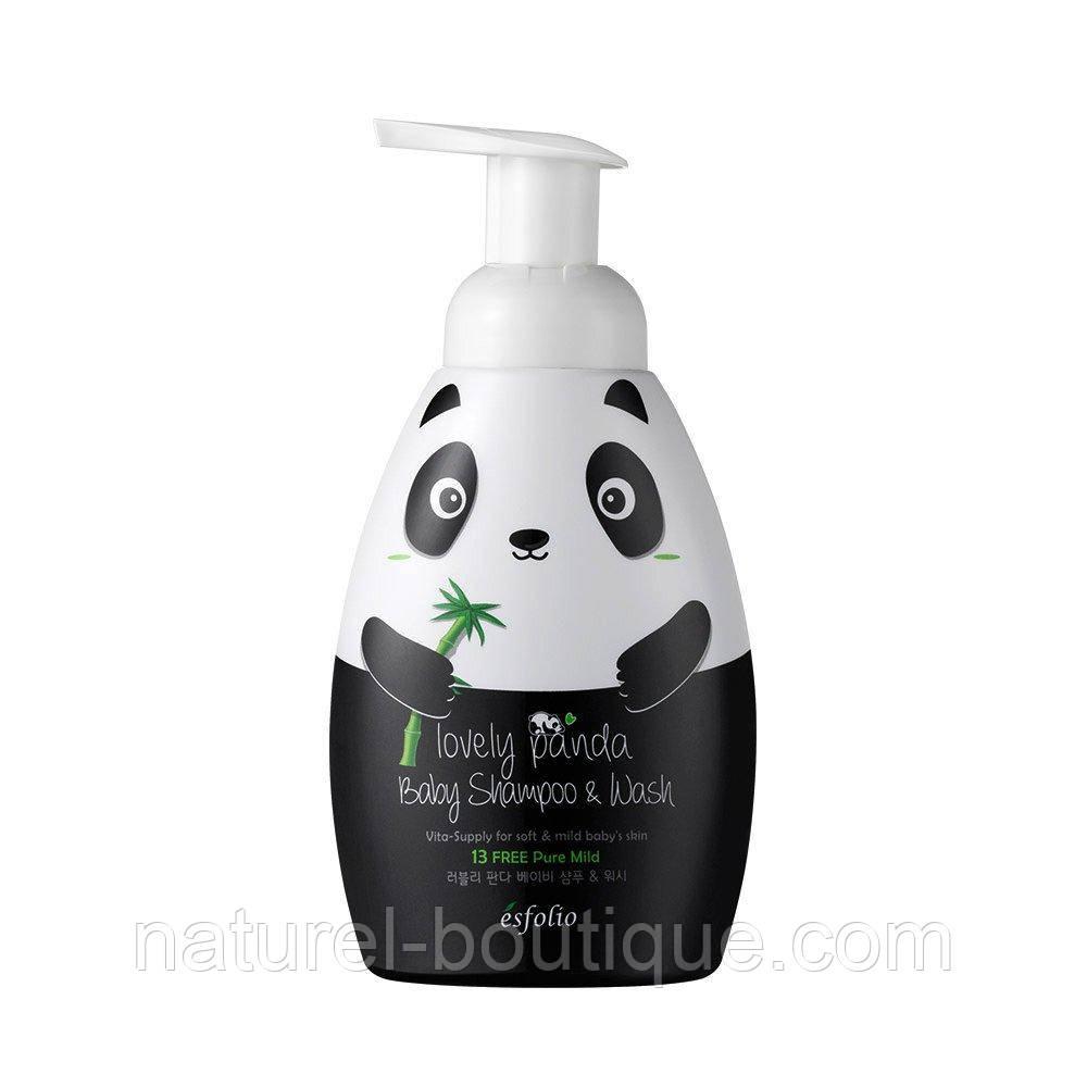 Детский шампунь-гель для душа Esfolio милая  панда