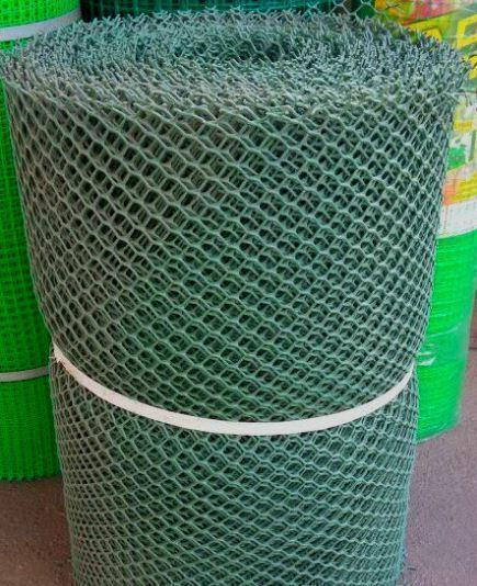 Забор садовый.Ячейка 20х20 мм, рул. 1.5м х 30 м (темно-зеленая).Ромб(Сота)
