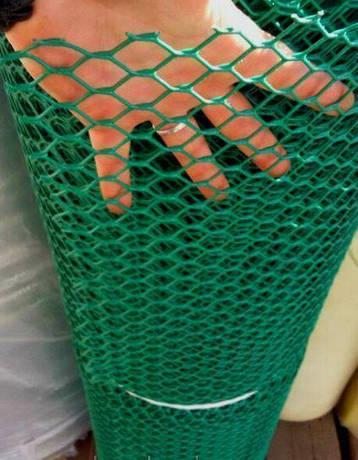 Забор садовый.Ячейка 20х20 мм, рул. 1.5м х 30 м (темно-зеленая).Ромб(Сота), фото 2