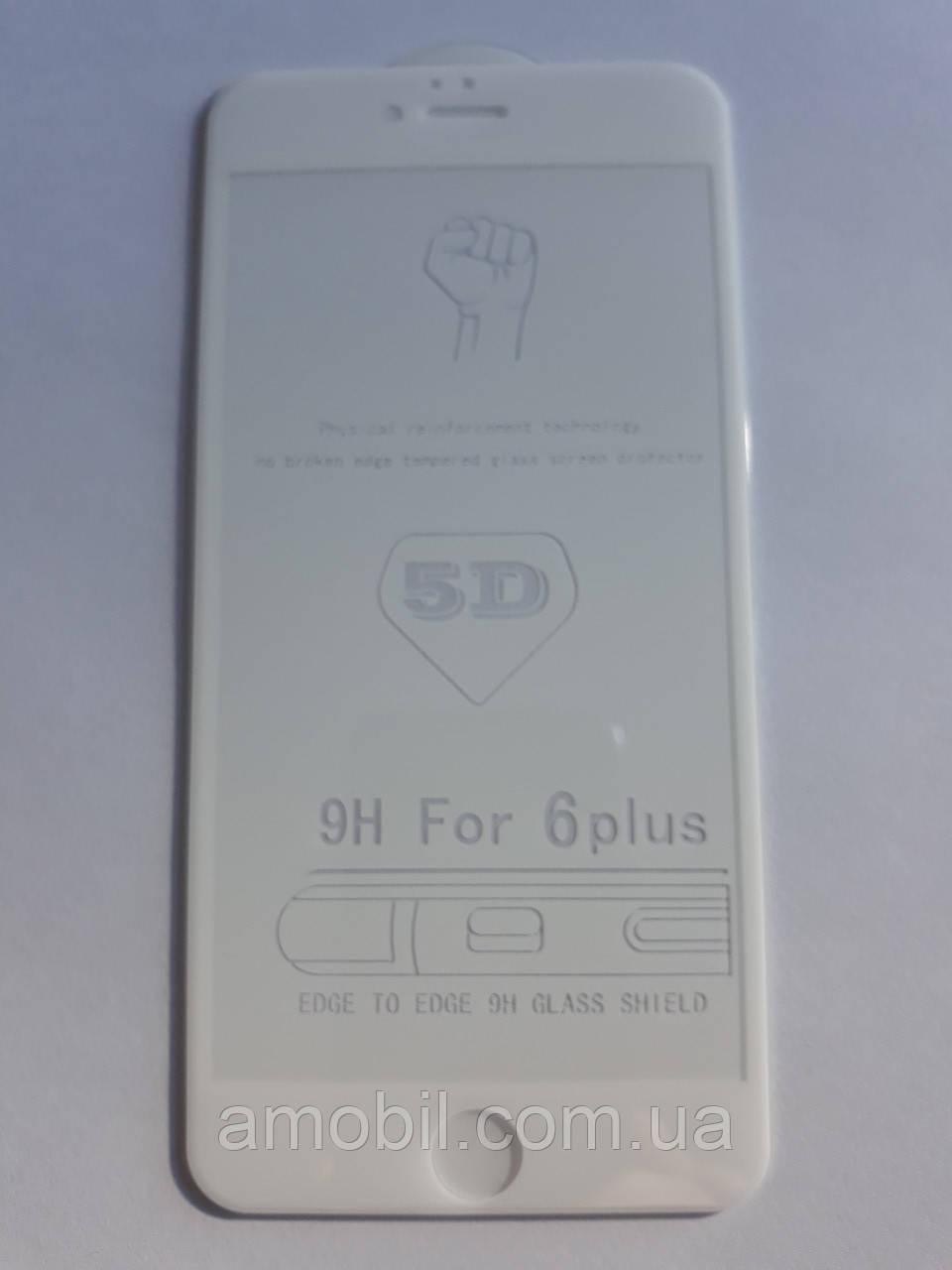 Защитное стекло 5D iPhone 6 Plus / 6S Plus full glue white