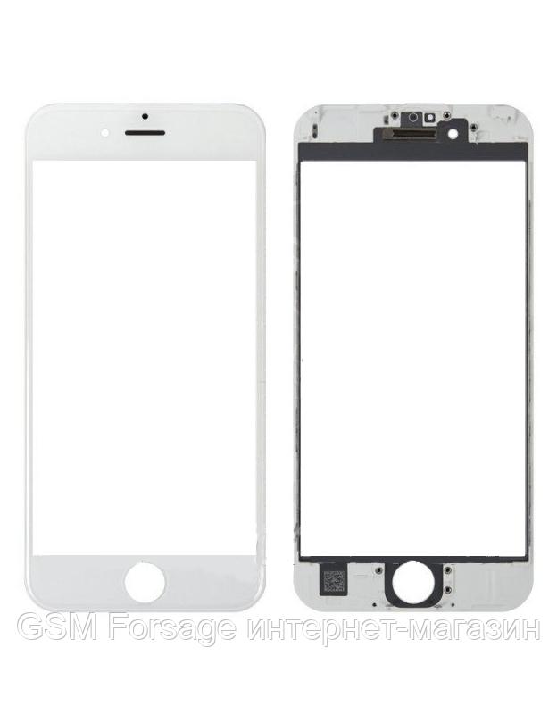 "Стекло дисплея (для переклейки) iPhone 6S Plus (5.5"") White complete with frame"
