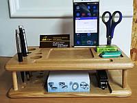 Настольный прибор из дерева для косметики или канцелярских товаров, фото 1