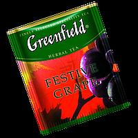 """Чай фруктовый пакетированный   Greenfield """"Festive Grape"""" Виноград 100шт (полиэтиленовый пакет)"""
