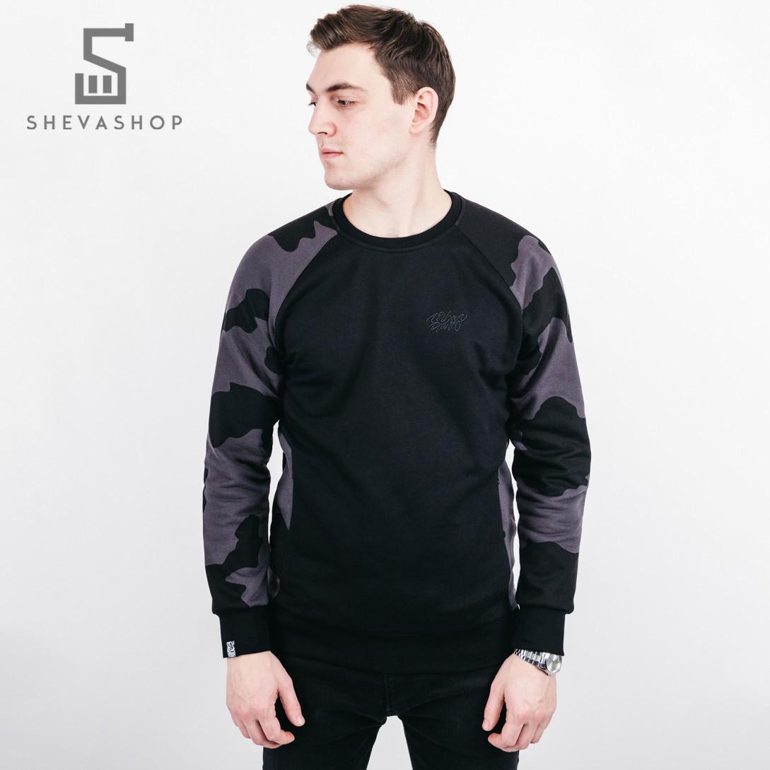 Теплый свитшот мужской UP Camo черный