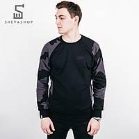 Теплый свитшот мужской UP Camo черный, фото 1