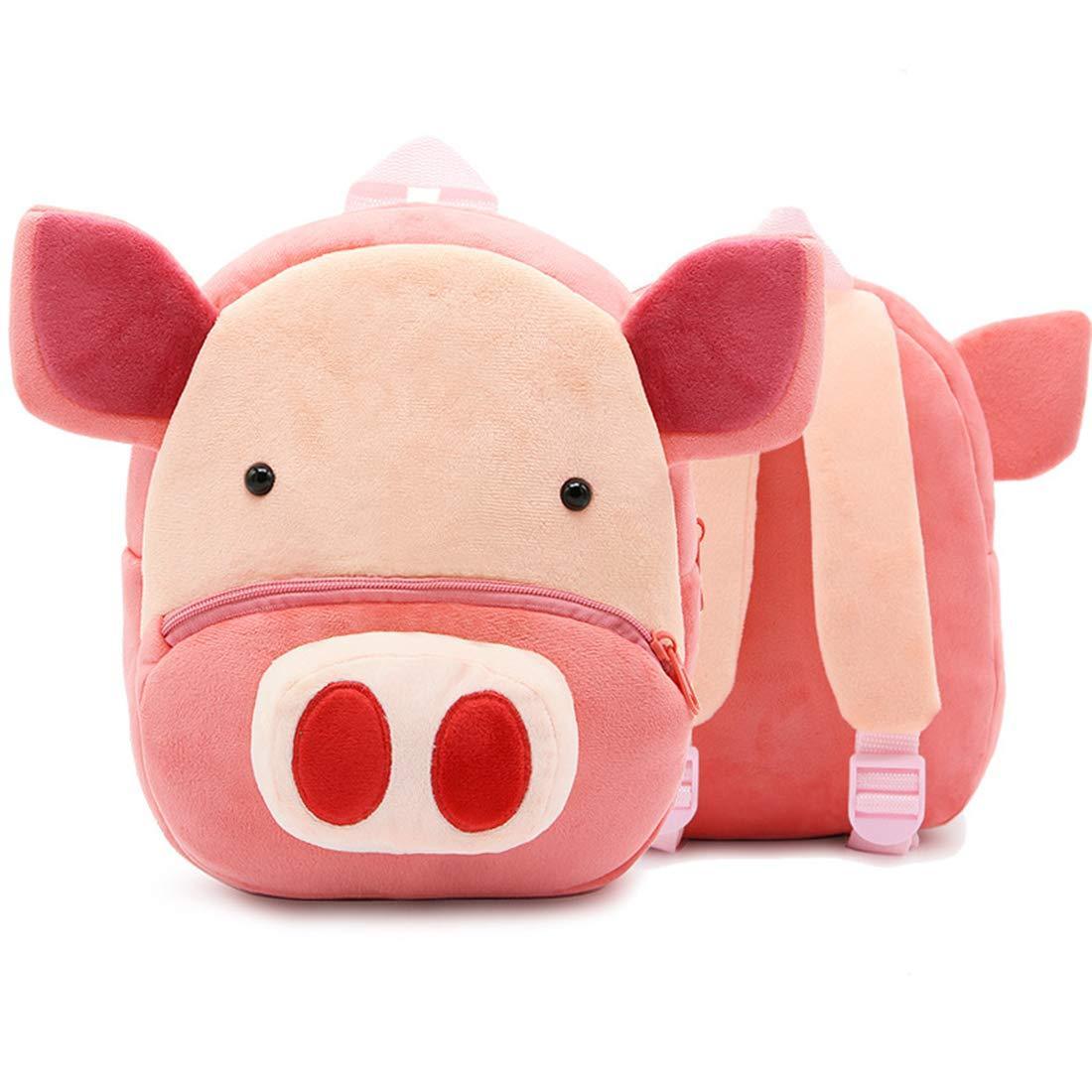 Детский велюровый рюкзак Свинка