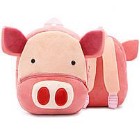 Детский велюровый рюкзак Свинка , фото 1