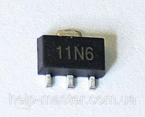 Транзистор ZXMN6A11ZTA (SOT89)