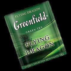 """Чай зеленый пакетированный  Greenfield """"Flying Dragon"""" 100шт (полиэтиленовый пакет)"""