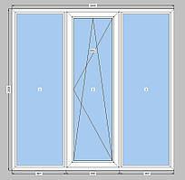 Окно металопластиковое двухкамерный пакет WDS 400