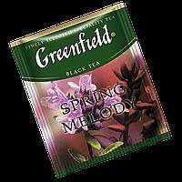 """Чай черный пакетированный Greenfield """"Spring melody"""" Чебрец с мятой 100шт (полиэтиленовый пакет)"""