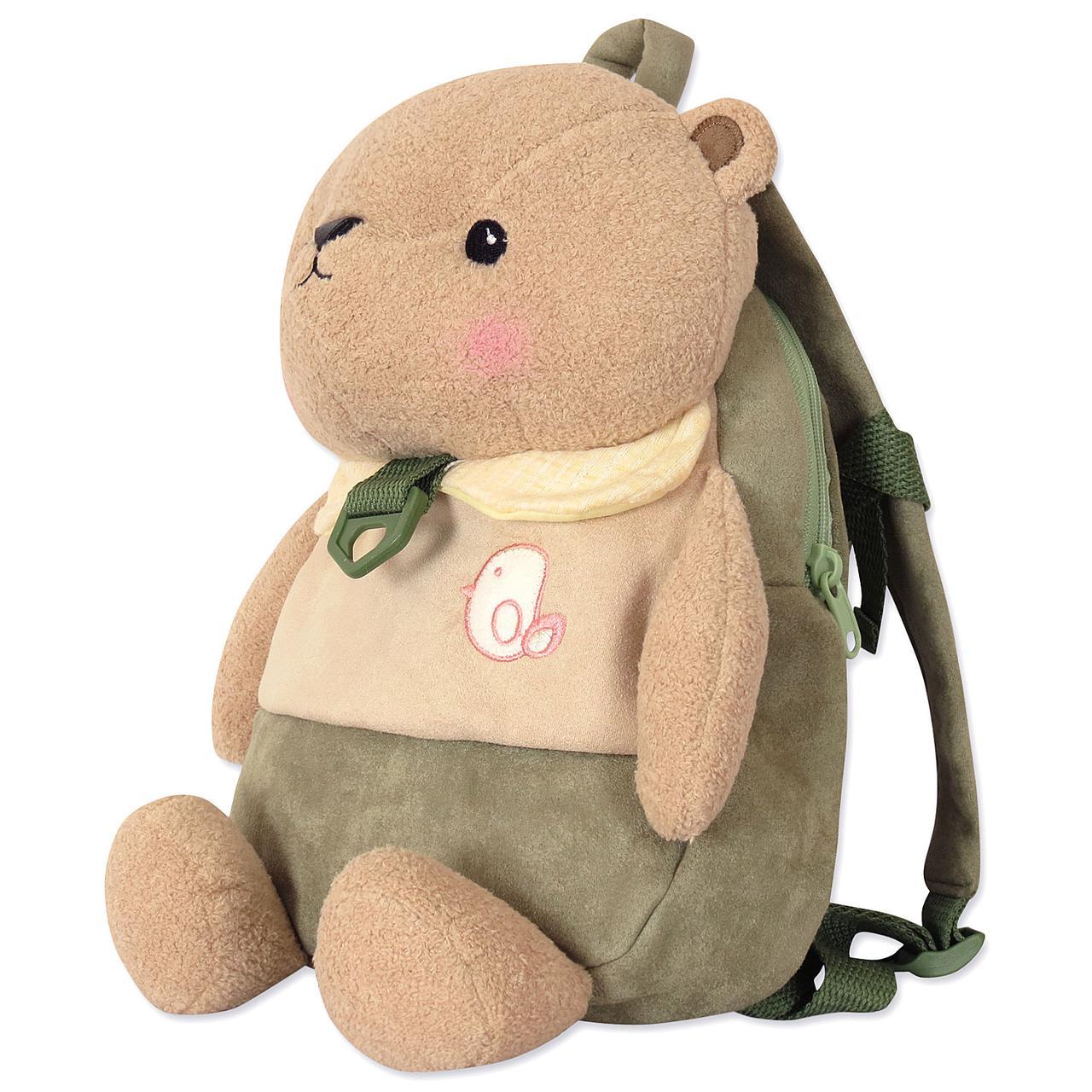 Детский велюровый рюкзак Мишка