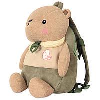 Детский велюровый рюкзак Мишка, фото 1