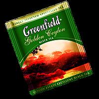 """Чай черный пакетированный  Greenfield """"Golden Ceylon"""" 100шт (полиэтиленовый пакет)"""