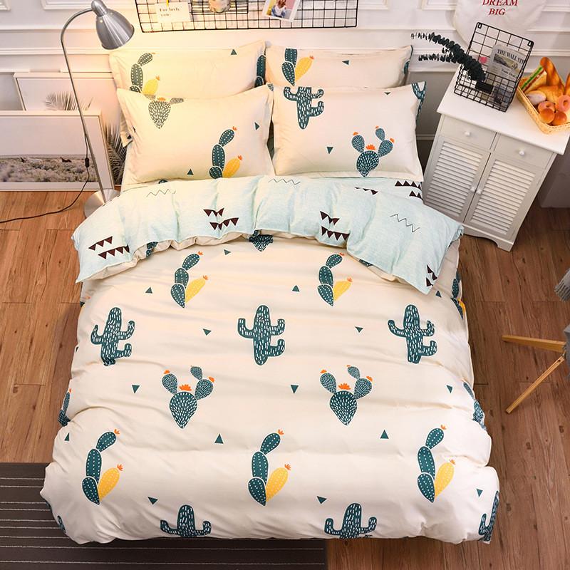 Полуторный комплект постельного белья Кактусы