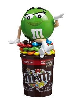 Диспенсер M&M´s зелёный с подарком