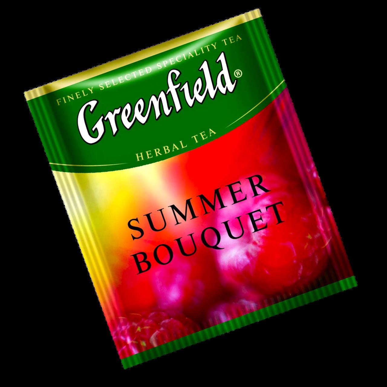 """Чай каркаде пакетированный  Greenfield """"Summer Bouquet"""" Малина 100шт (полиэтиленовый пакет)"""