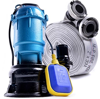 Фекальный насос с НОЖОМ EURO ForWateR2.5кВт, + пожарн рукав 10м (либо 20м)с гайками 2 года гарантия