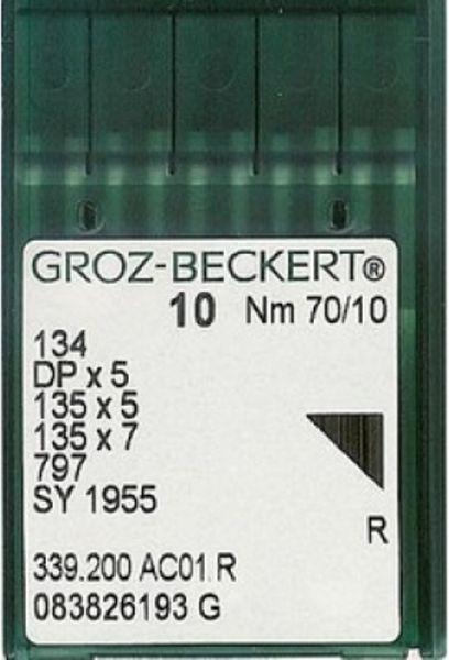 Голки GROZ-BECKERT DPx5 №70 (уп.10шт.)