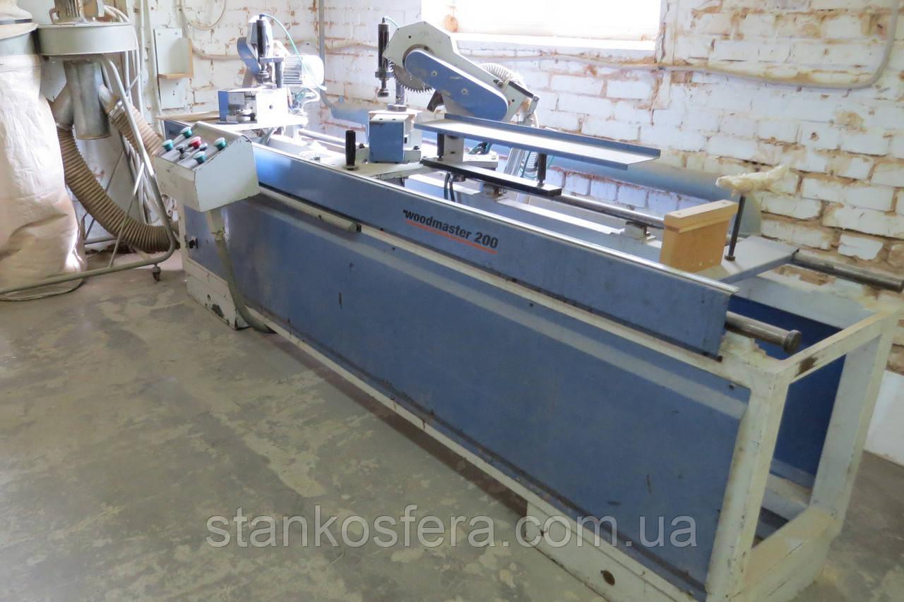 Двухголовочный станок Woodmaster 200/300 бу для резки МДФ профиля и фрезерования пазов под шпонки