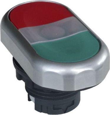 Ex9P1 Dl gr, Кнопка двойная, зеленая + красная, с подсветкой, без фиксации (105659)
