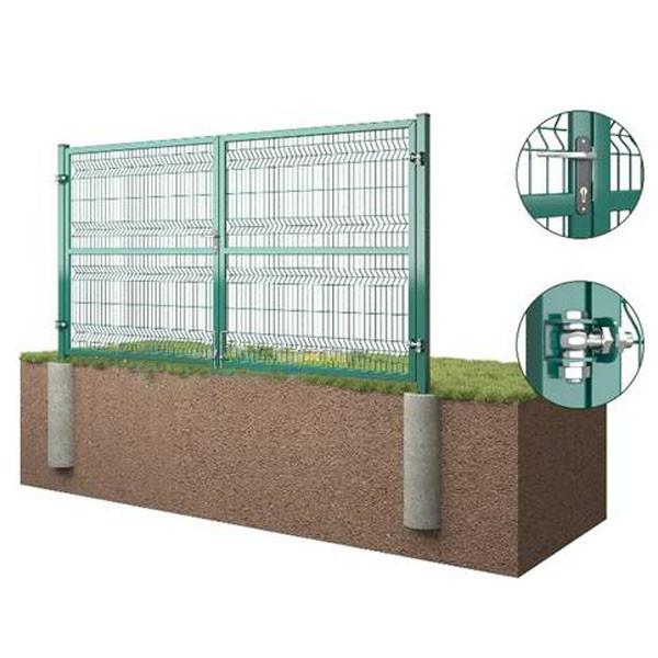 Распашные ворота 3D Забор™ – 1500х5000 мм