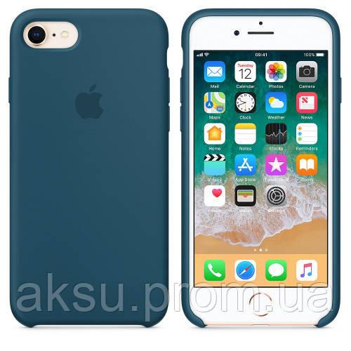 Чехол накладка xCase на iPhone 7/8 Silicone Case Cosmos blue