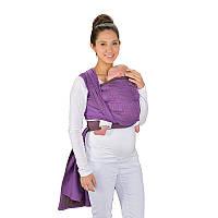 Слинг-шарф HOPPEDIZ New York Mocca-Violet Bio (4,6 м)