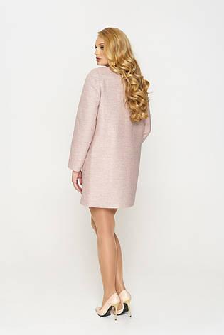 Пальто женское демисезонное Диана, шерсть, пломбир, 40-46р., фото 2