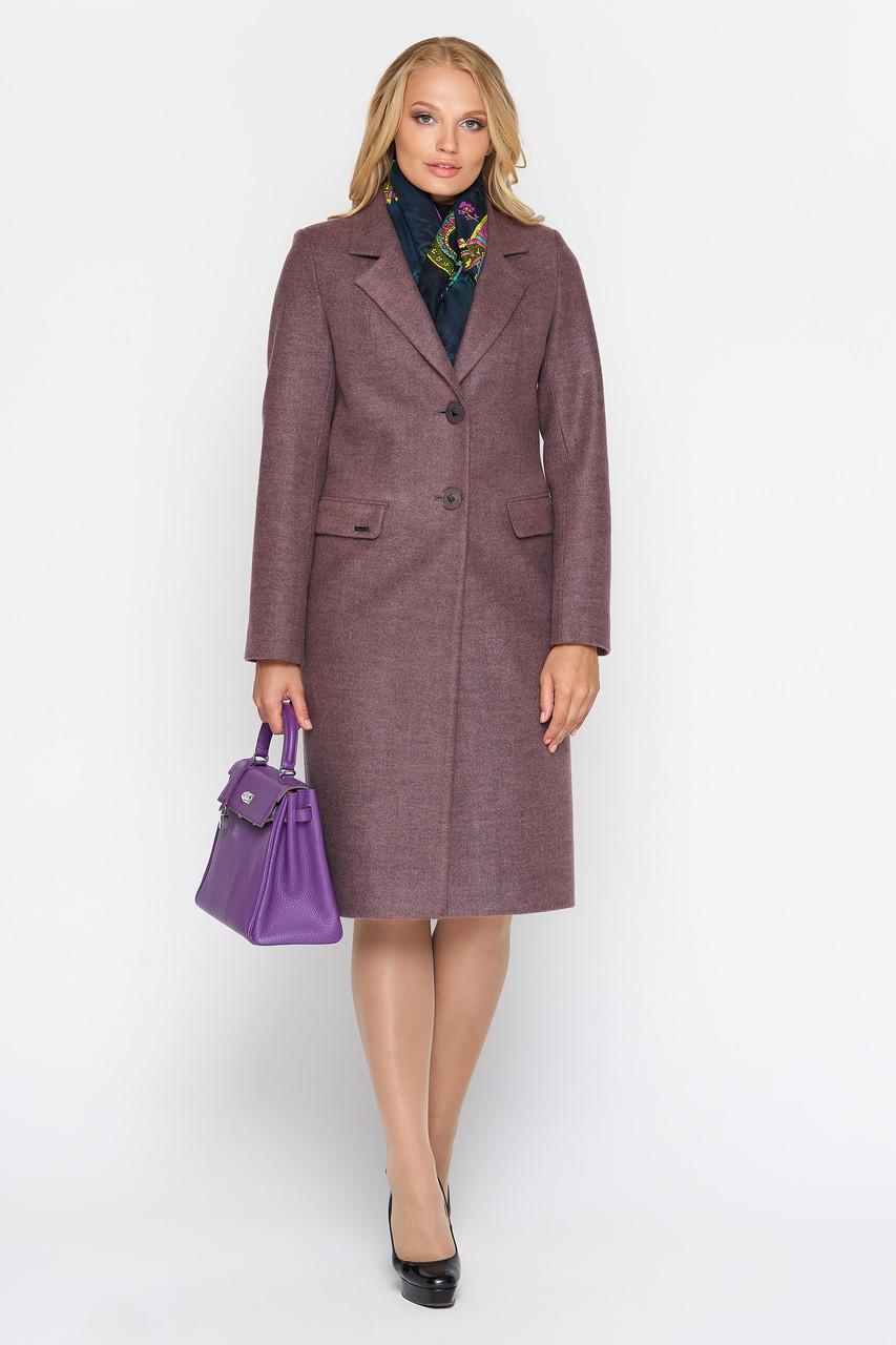 Пальто женское демисезонное Фиджи, шерсть, ягода, 40, 44, 46р.
