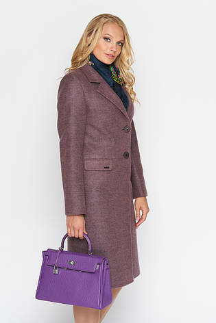 Пальто женское демисезонное Фиджи, шерсть, ягода, 40, 44, 46р., фото 2