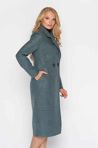 Пальто женское демисезонное Милана, шерсть, оливковый, 44р., фото 2