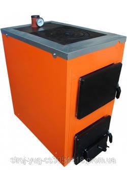 Твердотопливный бытовой одноконтурный котел ТермоБар АКТВ-16 с плитой (1 конф)