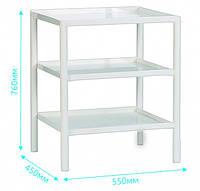 Столик для приборов СП1 (металл), стол приборный медицинский, столик приборный