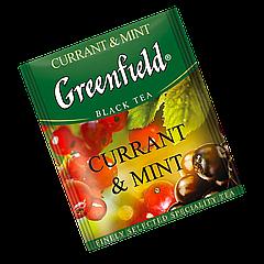 """Чай черный пакетированный Greenfield """"Currant & Mint"""" Аромат смородины 100шт (полиэтиленовый пакет)"""