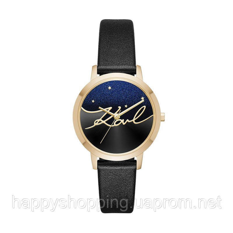 "Женские черные  кварцовые часы ""Camille""  Karl Lagerfeld"