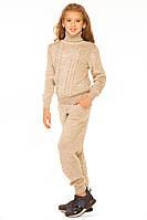 Модный вязаный костюм для девочки 140-152р