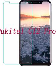 Загартоване захисне скло Hacrin для Oukitel C12 / С12 Pro/ Є вибір з чохлам /