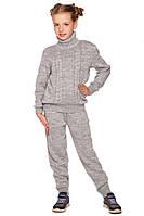 Удобный вязаный костюм для девочки 140-152р