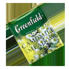 """Чай травяной пакетированный Greenfield """"Camomille Meadow"""" Ромашка с медом 100шт (полиэтиленовый пакет)"""