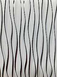 Обои виниловые  на бумаге  1055-10 полоса черно-белая для гостиной, спальни, прихожей  0,53*10