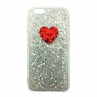 Чехол накладка xCase на iPhone 7/8 Shining heart белый