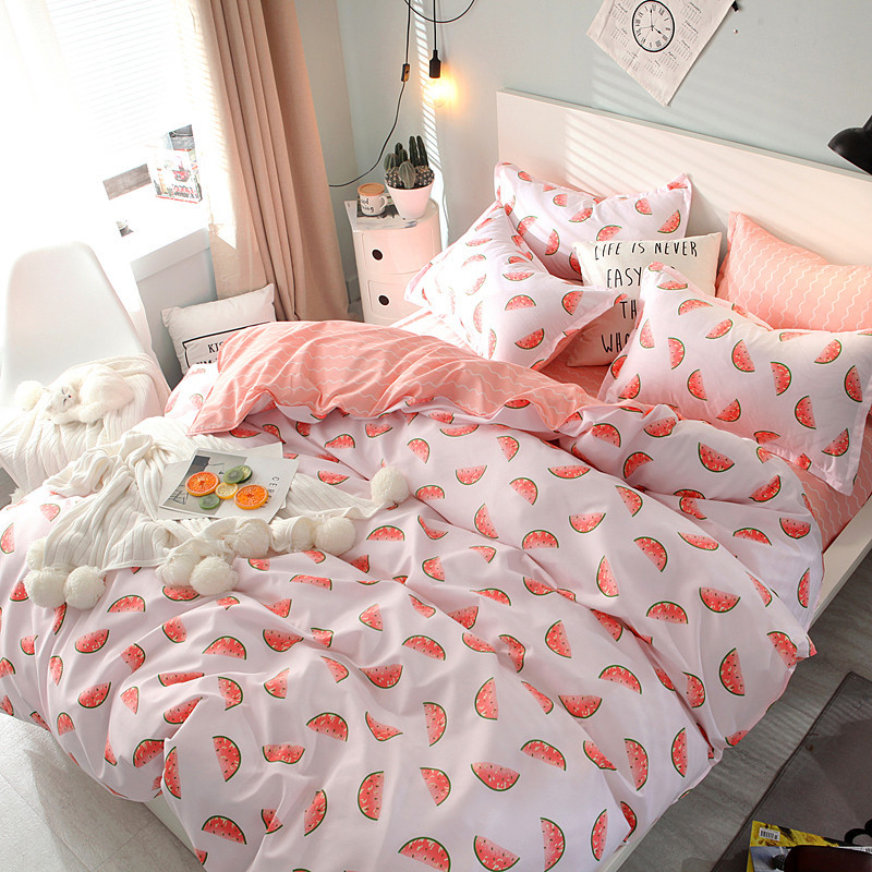 Комплект постельного белья Сладкий Арбуз (двуспальный-евро)