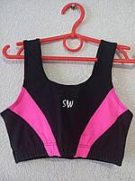 Топ детский спортивный черно-розовый
