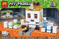 Конструктор LELE Майнкрафт Арена-череп 33226 (Аналог Lego Minecraft 21145) 210 дет