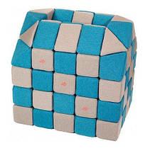 Мягкие магнитные кубики Jolly Heap голубой/бежевый