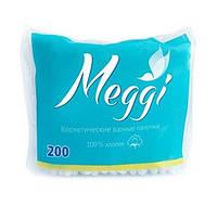 Ватные палочки Meggi (пакет) 200 шт